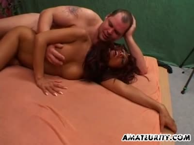 Amateur Asian Milf sucks and fucks with cum on tits