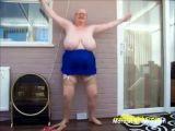 Grandma naked jumping jacks