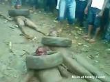Nigerian Criminals Beaten And Burned Alive