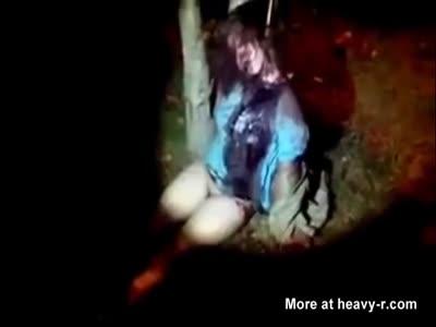 Nude girl raped and hanged