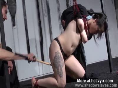 Whipping Suspended Asian Slavegirl