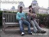 Public Threesome At Paris Louvre